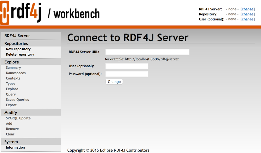 RDF4J Workbench